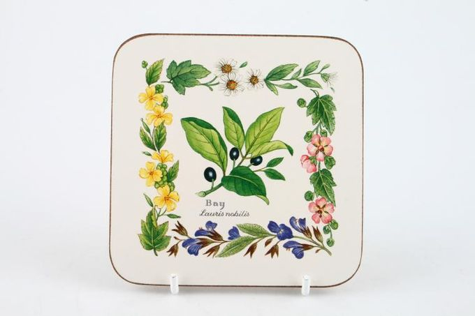 """Royal Worcester Worcester Herbs Coaster Box of 6 - Herb pattern 4 x 4"""""""