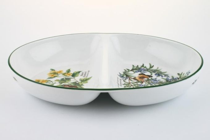 Royal Worcester Worcester Herbs Vegetable Dish (Divided) Some items made abroad 11 1/2 x 8 3/8""