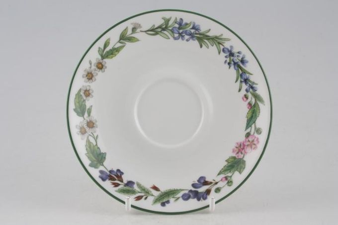 """Royal Worcester Worcester Herbs Coffee Saucer 5 1/4"""""""