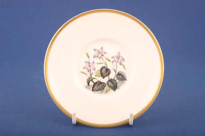 """Royal Worcester Alpine Flowers Coffee Saucer No 4 - Well size 2 1/4"""" For Cans 5"""""""