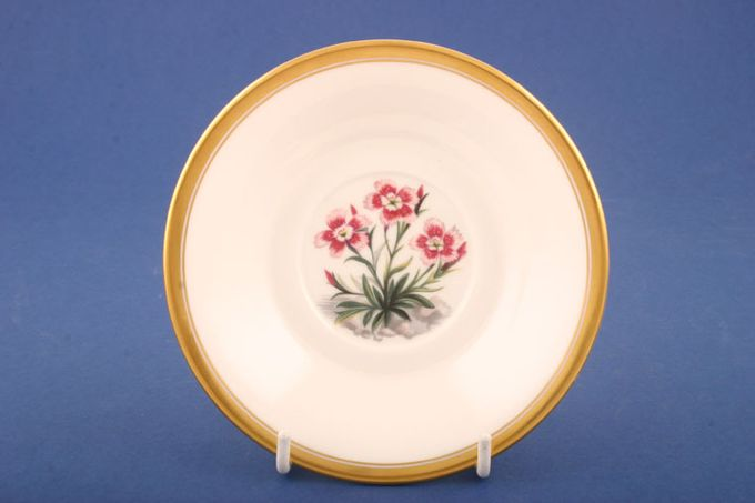 """Royal Worcester Alpine Flowers Coffee Saucer No 6 - Well size 2"""" For Irish Coffee - Deep 5"""""""