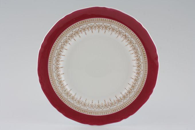 "Royal Worcester Regency - Ruby - White - Royal Worcester Tea / Side / Bread & Butter Plate No Gold 7 1/4"""