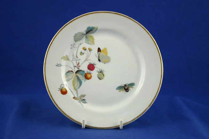 "Royal Worcester Strawberry Fair - Gold Edge Porcelain Starter / Salad / Dessert Plate 8"""