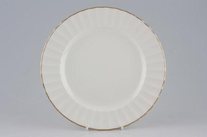 """Royal Worcester Strathmore - Cream - Fluted Starter / Salad / Dessert Plate 8"""""""