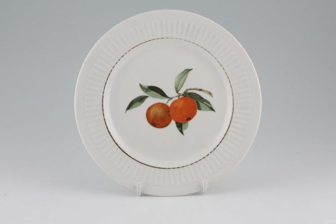 """Royal Worcester Evesham - Ribbed - Gold edge Breakfast / Lunch Plate 8 1/4"""""""