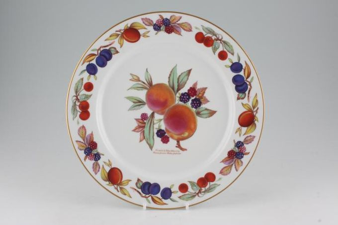 Royal Worcester Evesham - Gold Edge Dinner Plate Accent, Peach and Blackberry 10 1/4""