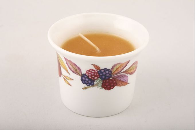 Royal Worcester Evesham - Gold Edge Candle Orange wax