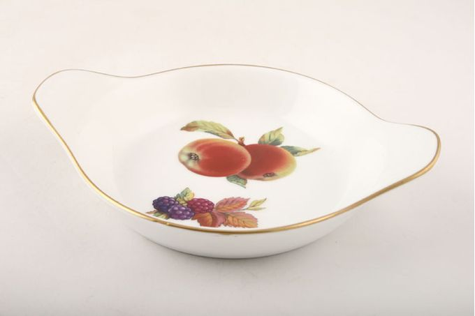 Royal Worcester Evesham - Gold Edge Entrée Round, Eared, Apple 7 1/4""