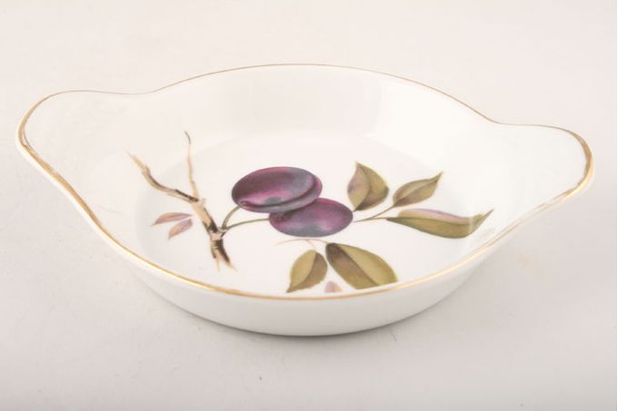 Royal Worcester Evesham - Gold Edge Entrée Round, Eared, Plum 7 1/4""