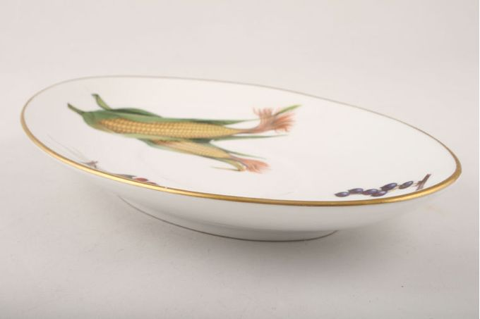 """Royal Worcester Evesham - Gold Edge Sauce Boat Stand 8 1/2"""""""