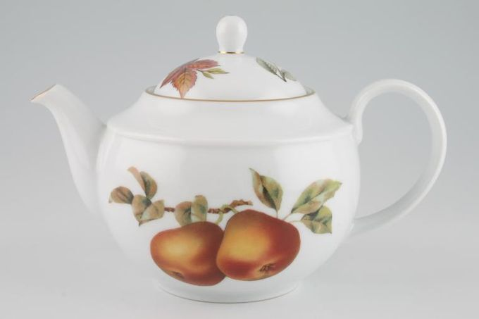 Royal Worcester Evesham - Gold Edge Teapot Malvern - Pears 1pt