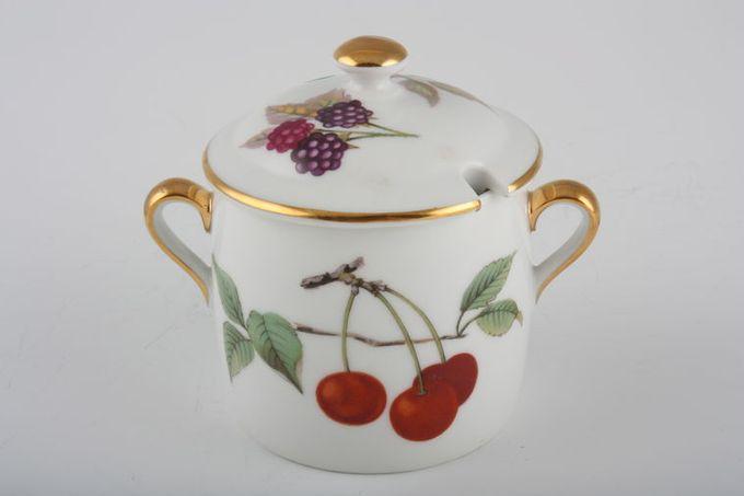 Royal Worcester Evesham - Gold Edge Marmite Pot + Lid Shape 29 Size 6, Cherries and Apples 1/3pt