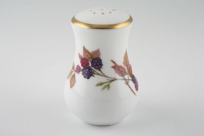 Royal Worcester Evesham - Gold Edge Pepper Pot 9 holes 3""