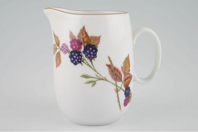 Royal Worcester Evesham - Gold Edge Milk Jug Severn - Blackberries 1/2pt