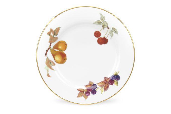 "Royal Worcester Evesham - Gold Edge Starter / Salad / Dessert Plate Pears, cherries, blackberries 8 1/4"""