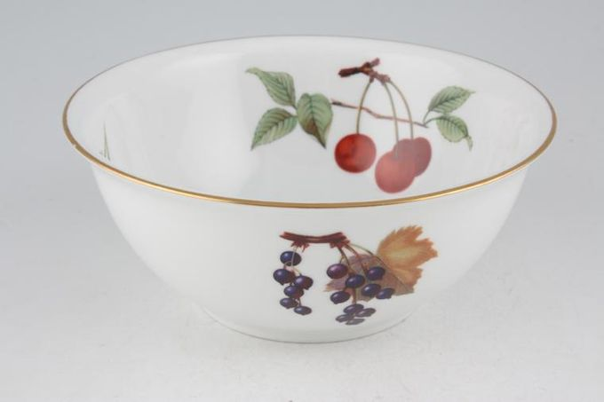 Royal Worcester Evesham - Gold Edge Oatmeal / Cereal / Soup Flared Rim, deep. Fruits may vary. 6 1/8""