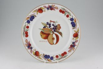 Royal Worcester Evesham   Gold Edge Dinner Plate Accent, Apple And  Blackcurrant 10 1/