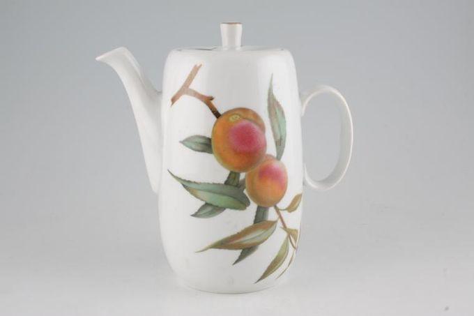 Royal Worcester Evesham - Gold Edge Coffee Pot Severn - No gold line on handle 2pt