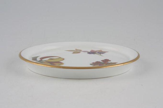 "Royal Worcester Evesham - Gold Edge Coaster Ceramic - Flat - Apple, Blackberry, Redcurrant 4"""