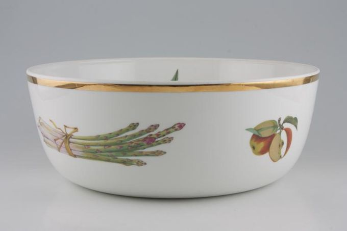 "Royal Worcester Evesham - Gold Edge Serving Bowl Shape 57 Size 1 11 1/2 x 4 3/8"""