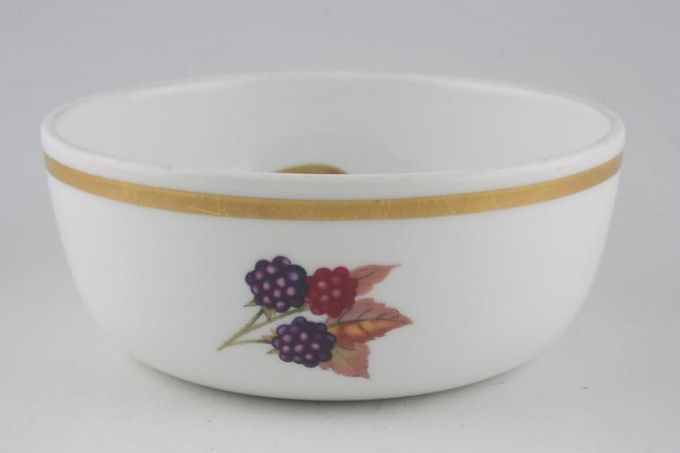 Royal Worcester Evesham - Gold Edge Salad Bowl Salad Individual,Gold band on outside 5 3/8 x 2 1/8""