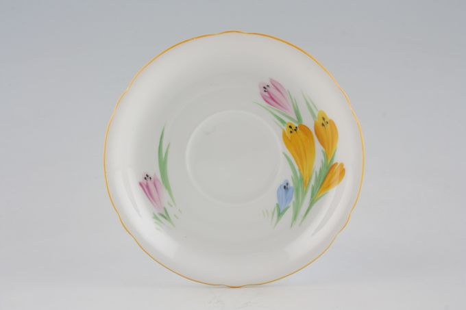 Shelley Crocus Tea Saucer 5 1/2""