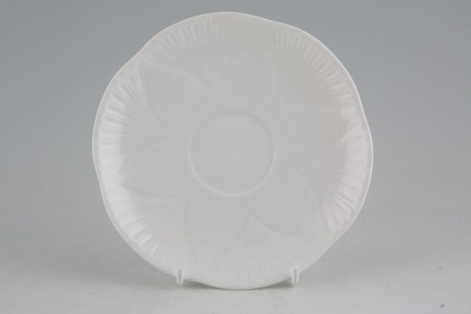 "Shelley Dainty White Tea Saucer Flatter 5 3/4"""