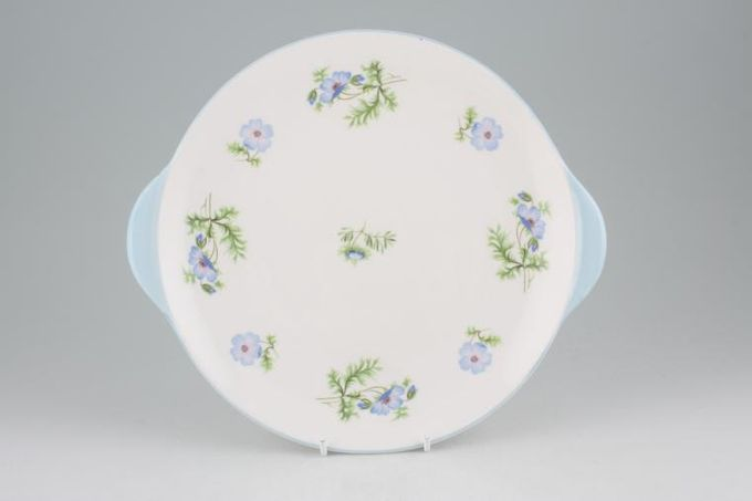 Shelley Blue Poppy Cake Plate Eared 10""
