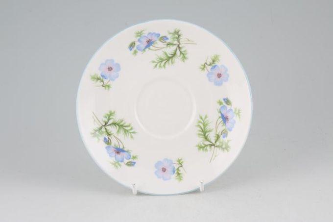 "Shelley Blue Poppy Tea Saucer 5 5/8"""