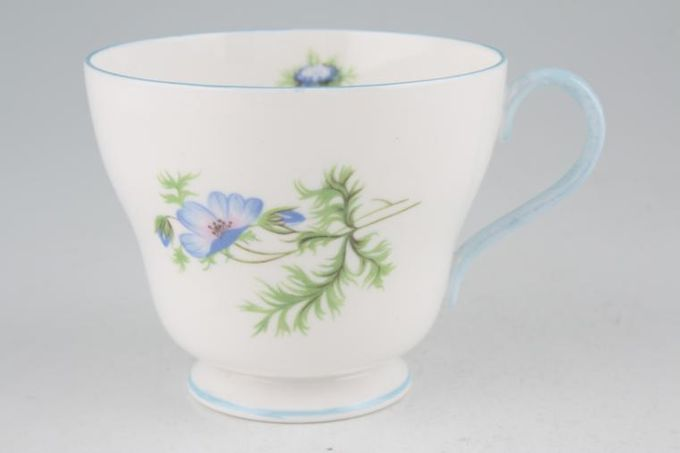 Shelley Blue Poppy Teacup 3 1/4 x 2 3/4""