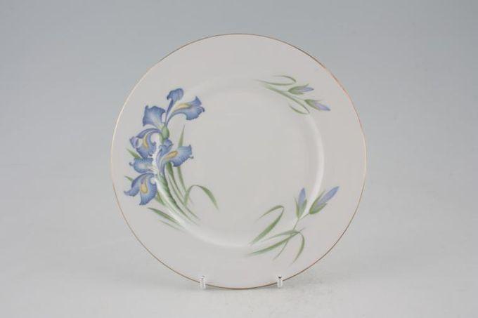 """Shelley Blue Iris Tea / Side / Bread & Butter Plate 7"""""""