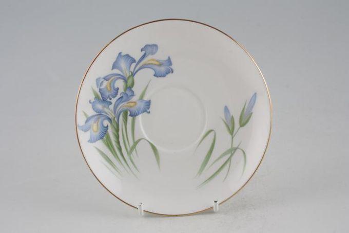 """Shelley Blue Iris Tea Saucer 5 3/4"""""""