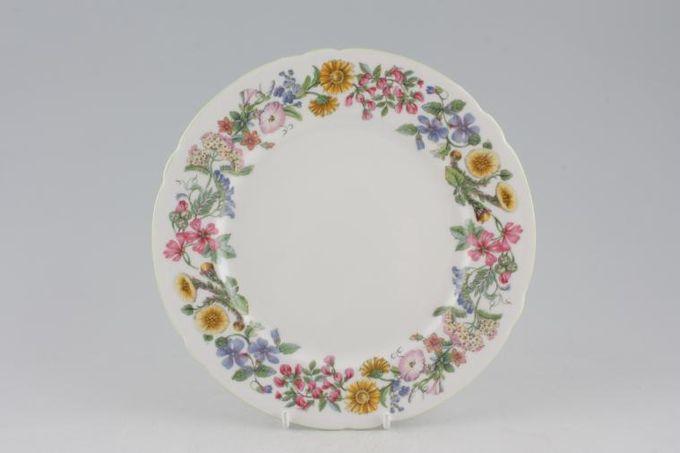 "Shelley Hedgerow - Green Edge Starter / Salad / Dessert Plate 8"""