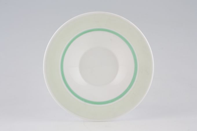 Shelley Pale Green + Stylised Leaves - C12387 Tea Saucer 5 1/2""