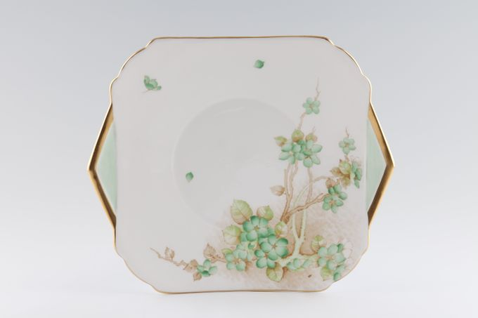 Shelley Apple Blossom Cake Plate Square, eared 9 3/4""