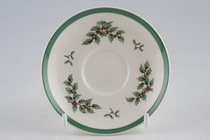 """Spode Christmas Tree Coffee Saucer 3 1/2"""""""
