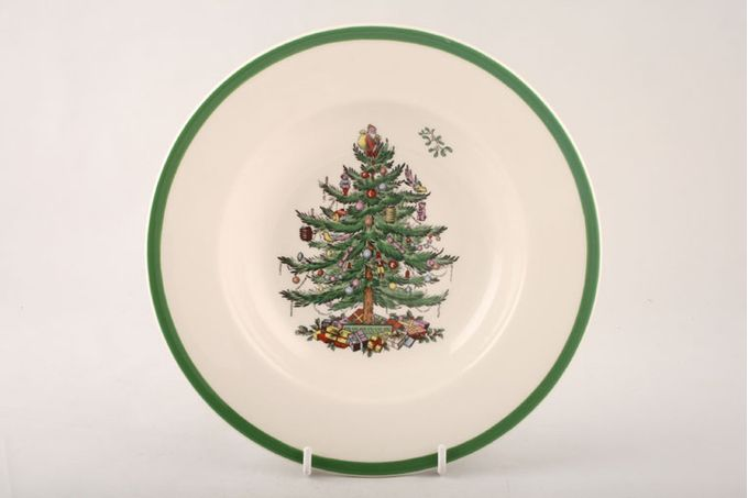 Spode Christmas Tree Rimmed Bowl 9""