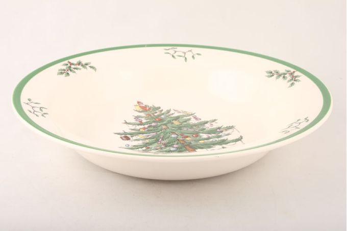 """Spode Christmas Tree Serving Bowl Rimmed 11 1/2"""""""