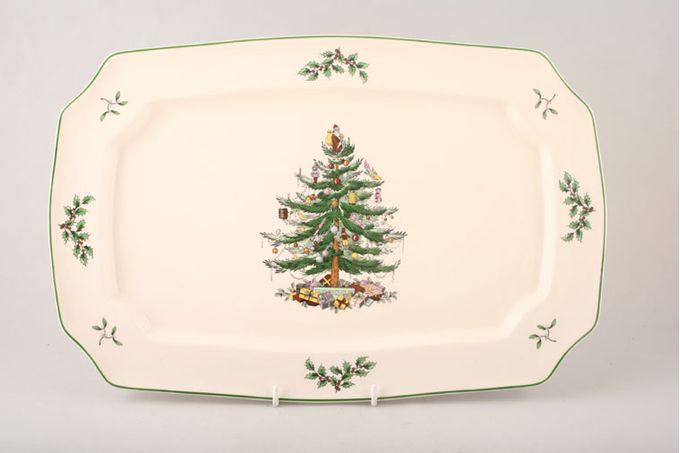 """Spode Christmas Tree Oblong Plate / Platter 15 1/2"""""""