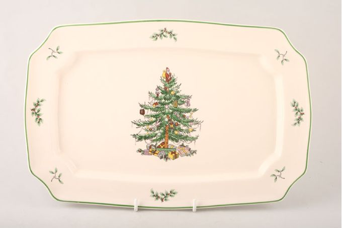 Spode Christmas Tree Oblong Plate / Platter 13 1/4""