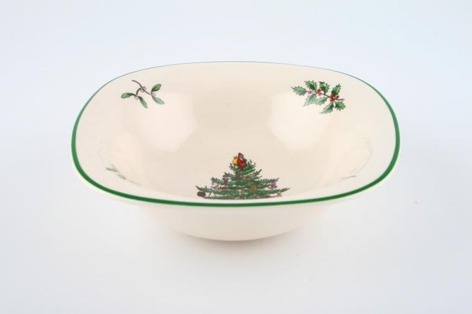 "Spode Christmas Tree Serving Dish Square - Dip dish 5"""