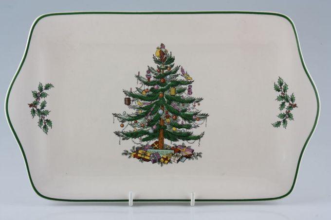 "Spode Christmas Tree Serving Tray 11 3/4 x 7 1/4"""