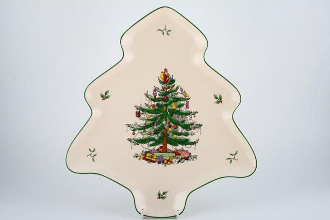"Spode Christmas Tree Serving Dish Spode 'Christmas Tree' Shallow, Tree Shaped Dish 14"""