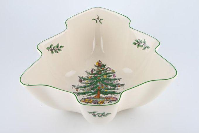 "Spode Christmas Tree Serving Bowl Spode 'Christmas Tree' Deep, Tree Shaped Bowl 11 3/4"""