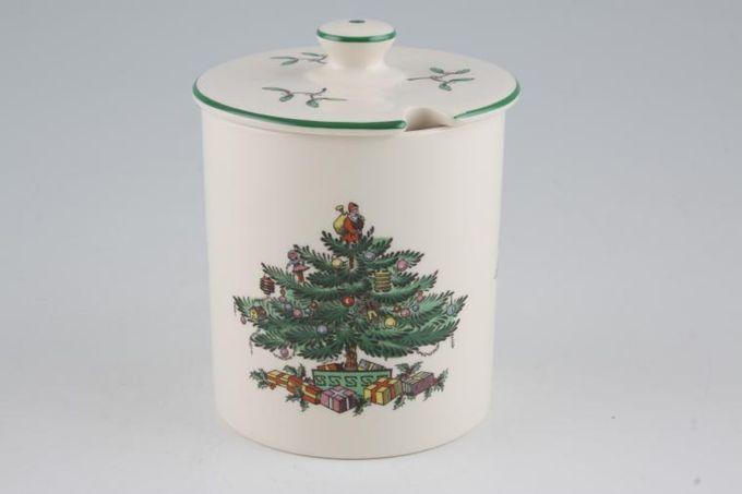 Spode Christmas Tree Jam Pot + Lid