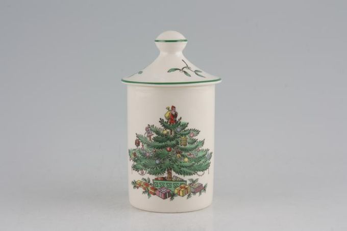"""Spode Christmas Tree Storage Jar + Lid Height without the lid 2 x 3"""""""