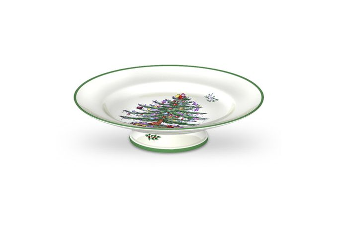 Spode Christmas Tree Cake Stand Footed