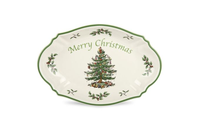 Spode Christmas Tree Serving Tray Merry Christams tray