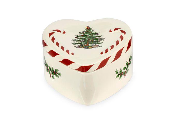 Spode Christmas Tree Box Peppermint Lidded Heart Box