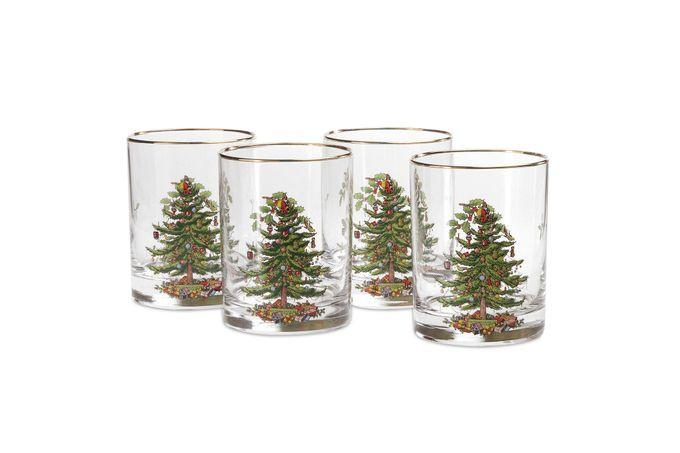 Spode Christmas Tree Tumbler Dof - Set of 4